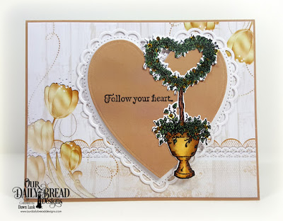 Our Daily Bread Designs Stamp Set: Happy Wedding Day, Paper Collection: Wedding Wishes, Customs Dies: Heart Topiary, Ornate Hearts