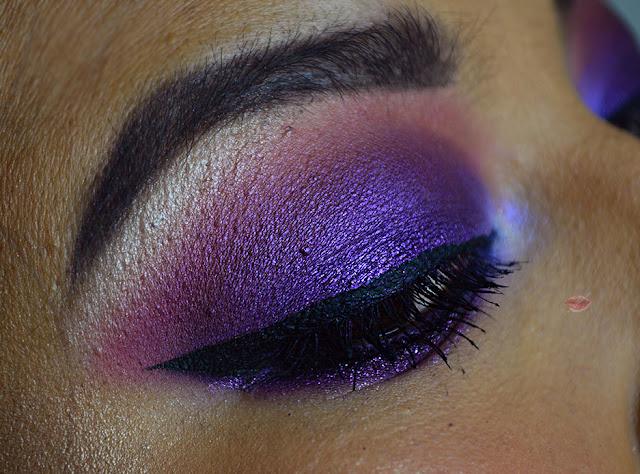 Good Vibes Palette Mulac Cosmetics, Alchemist Holographic Ultra violet kat von d, purple goth beauty, dark purple makeup