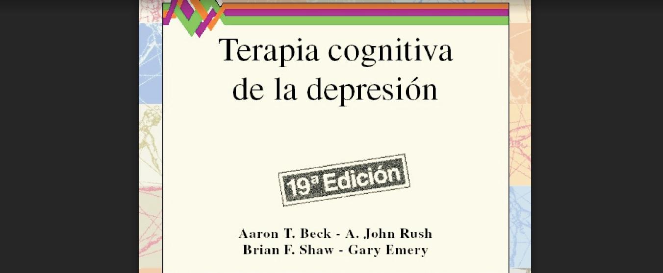 TERAPIA COGNITIVA DE LA DEPRESIÓN. PDF