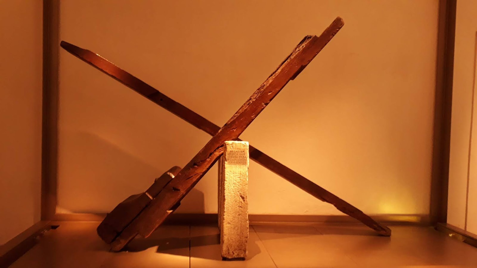 Peças da forca de Tiradentes - Museu da Inconfidência