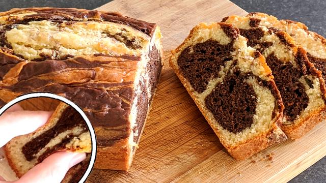 recette, gâteau marbré, moelleux, rapide, facile