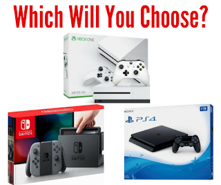 Choose Your Prize- Nintendo Switch, a PS4, or an Xbox One S.