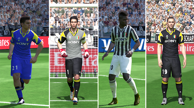 best sneakers c8e58 a76b0 PES 2016 Juventus Classic Kits 1995-1996 - PATCH PES | New ...