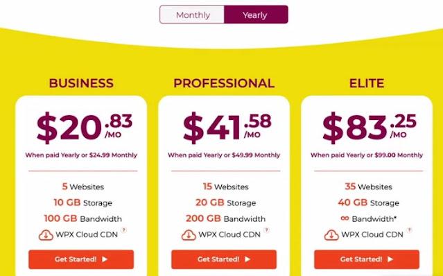 managed wordpress hosting plans of the wpx hosting