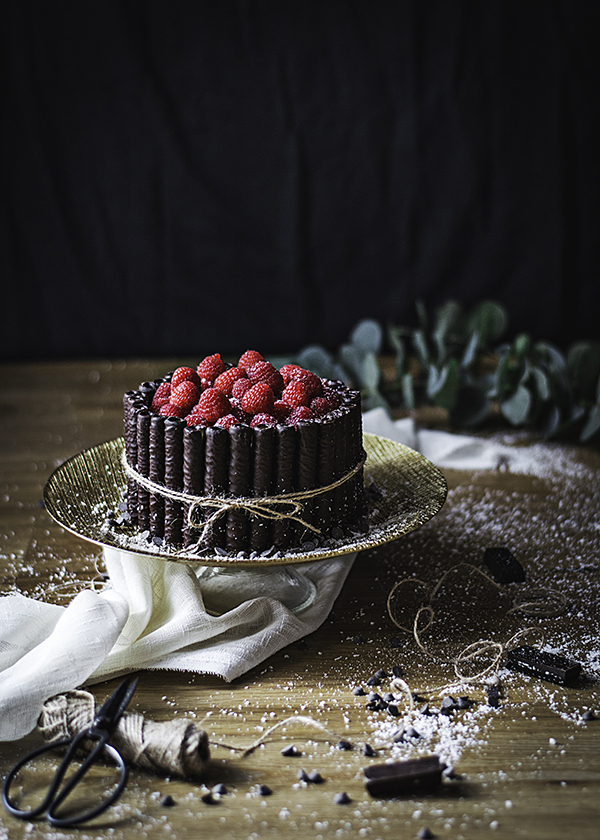 Tarta de Chocolate, Coco y Frambuesas-TuvesyyoHago