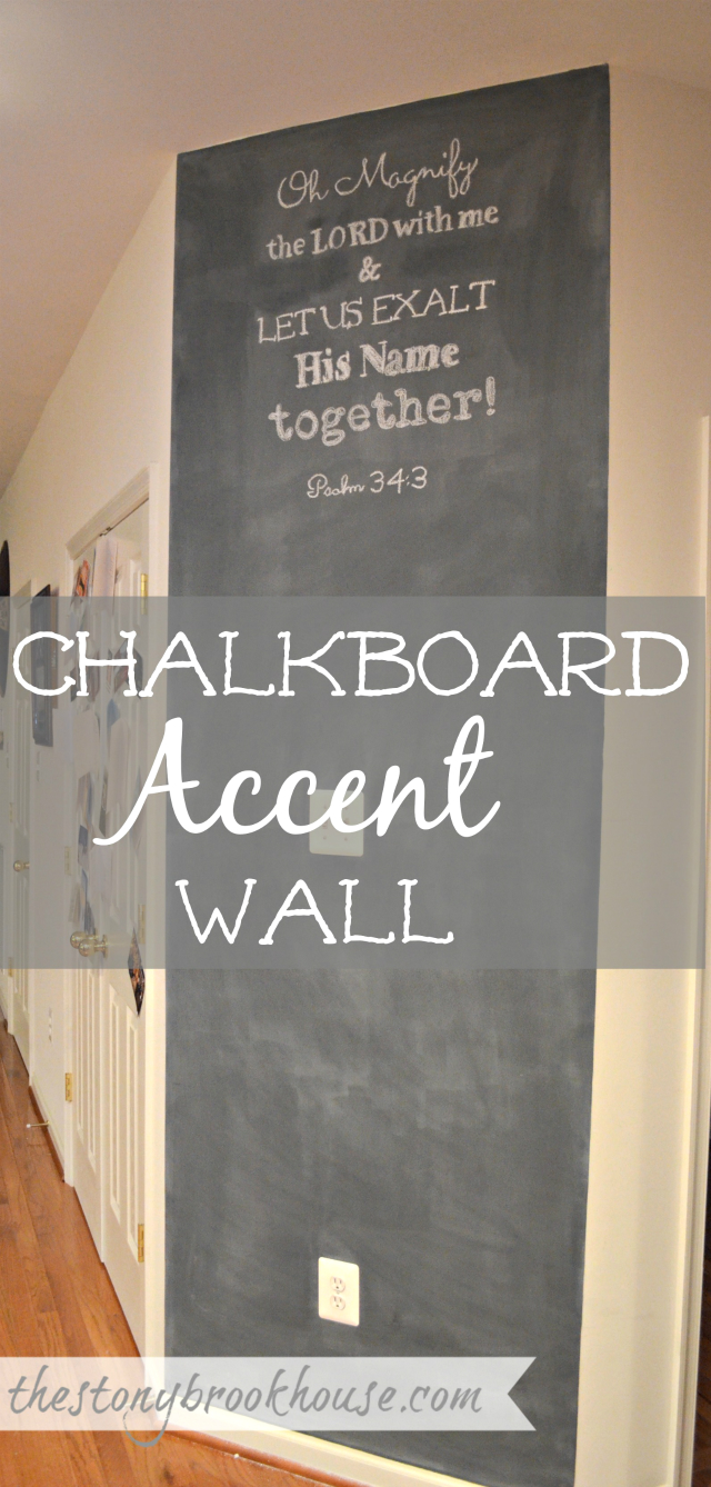 Chalkboard Accent Wall with scripture verse