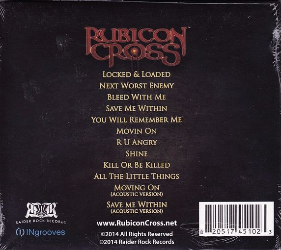 RUBICON CROSS - Rubicon Cross [Digipak +2 Best Buy Exclusive] back