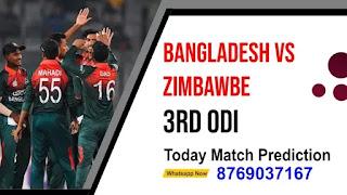 Zimbabwe vs Bangladesh 3rd Bangladesh Series With Zimbabwe ODI Match 100% Sure Match Prediction