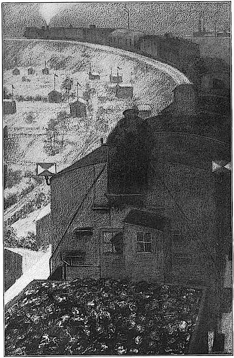 a 1912 illustration of a giant freight train