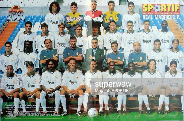 FULL TEAM SQUAD REAL MADRID 1998