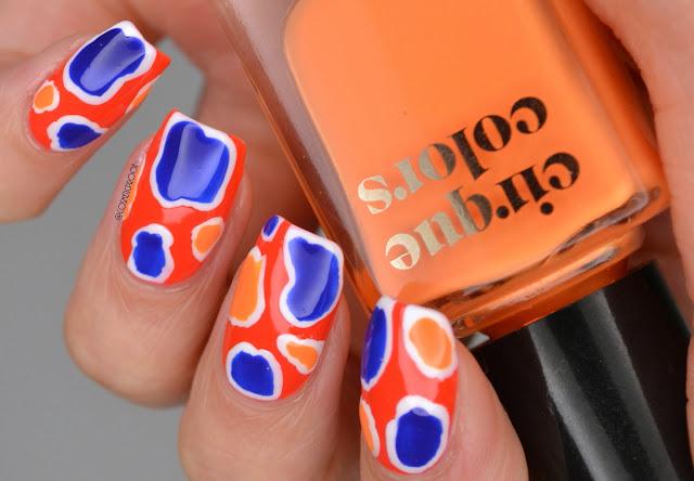 Abstract Neon Nail Art