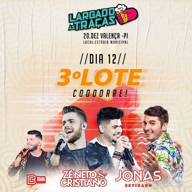 Show 'Largado às Traças' com Zé Neto e Cristiano vende quase 5 mil ingressos e anuncia nova virada de preço