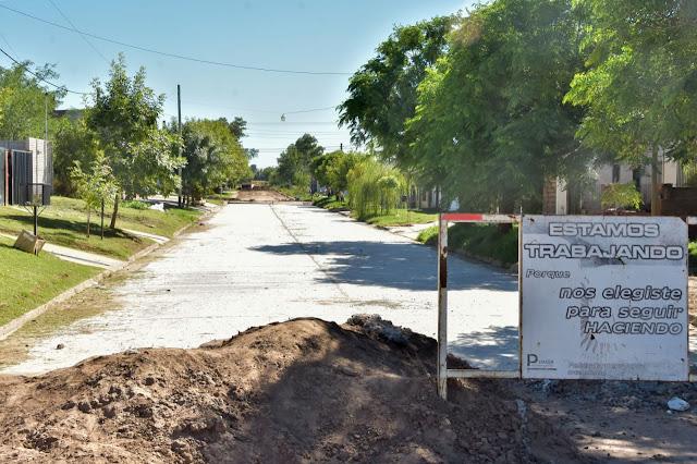 La gestión Zurro suma una nueva cuadra pavimentada