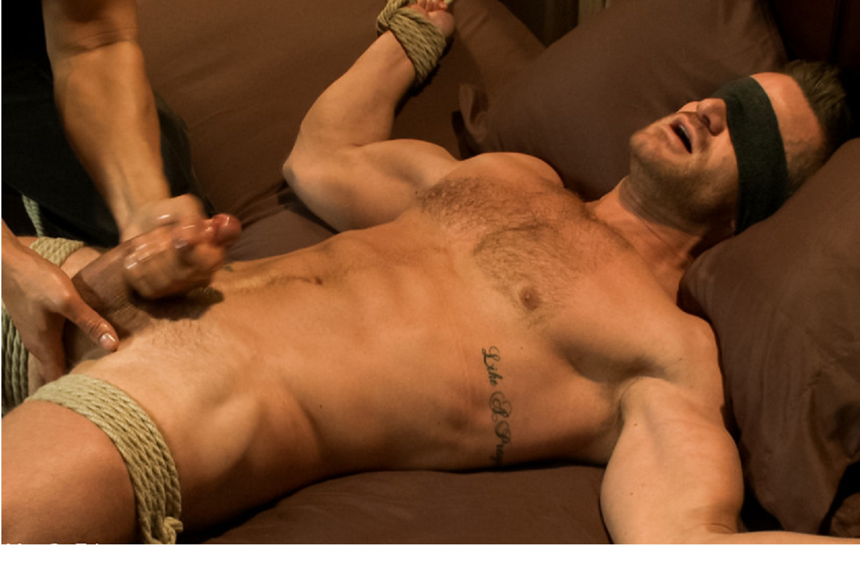 Nude bound men