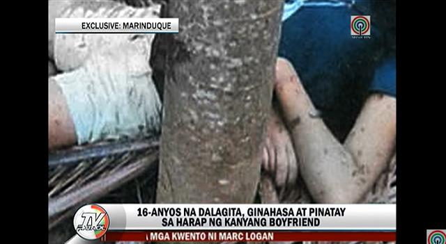 WATCH: 16-anyos na dalagita ginahasa, pinatay sa harap ng boyfriend