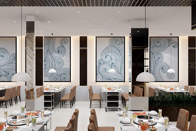 thiet ke nha hang hai san suong bien 20 Tạo điểm nhấn trong thiết kế nhà hàng tại TP.HCM