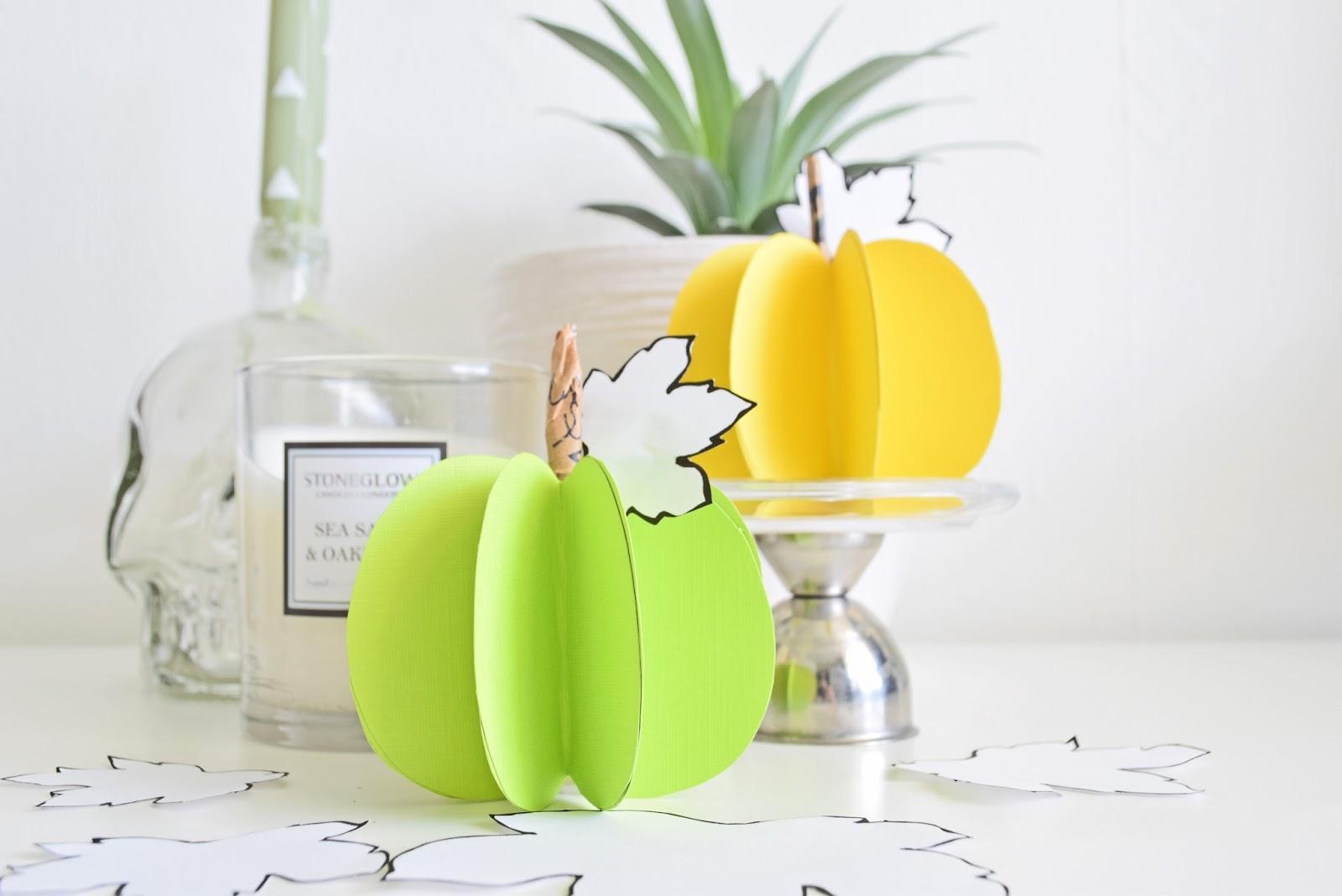 Paper Pumpkins DIY