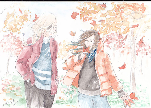 Commission Automne - illustration à l'aquarelle