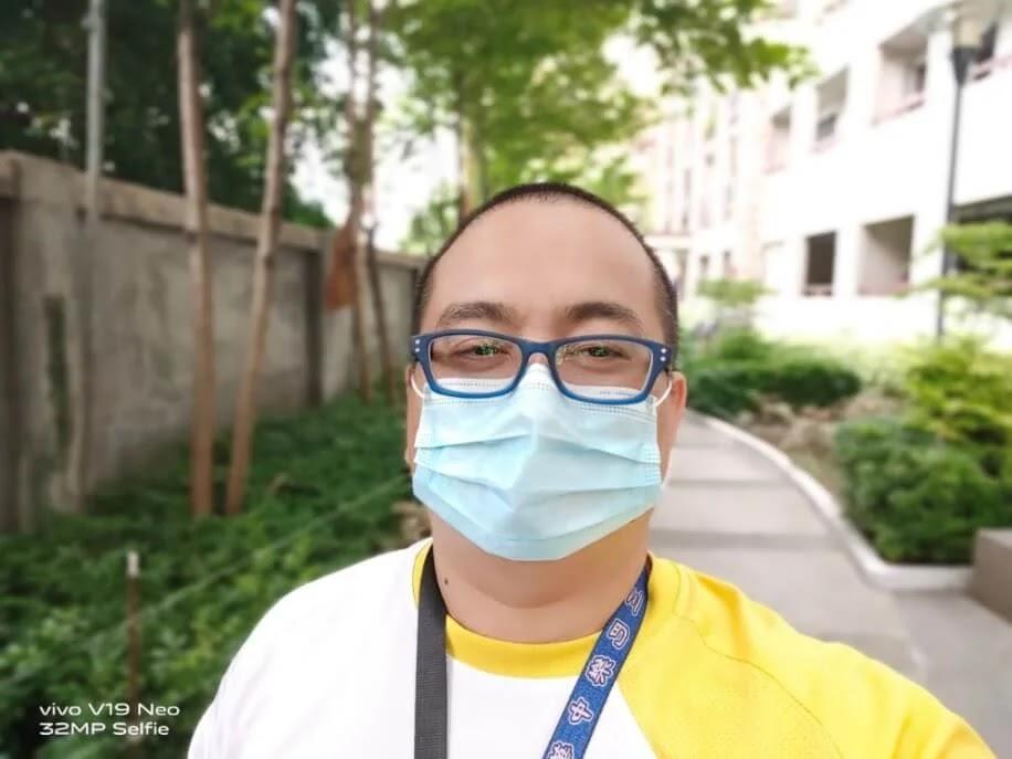 Vivo V19 Neo Camera Sample - Selfie with Mask, Primary