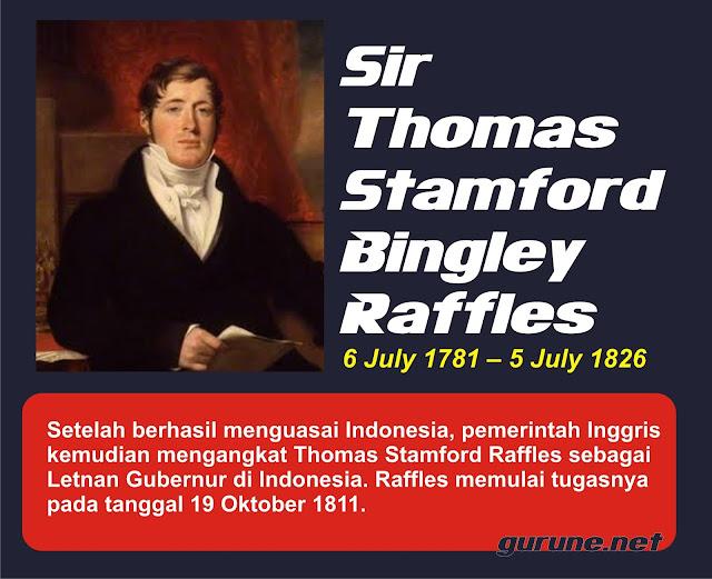 Thomas Stamford Raffles Peristiwa-Peristiwa pada Masa Pemerintahan Kolonial Inggris