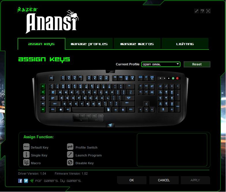 Razer Anansi Keyboard review 5