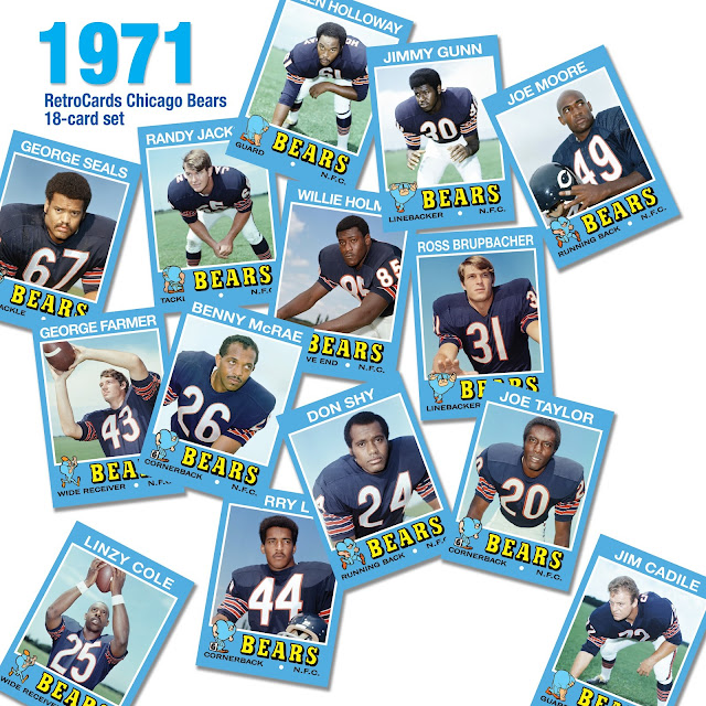 Topps football cards 1971, fantasy cards