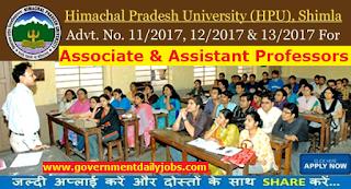 HPU Shimla Recruitment 2017 Apply 115 Teaching Faculty Posts