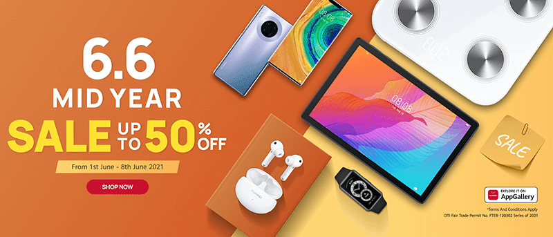 Huawei 6.6 Special Sale is until tomorrow June 8!