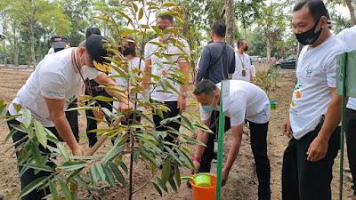 Sambut HBA ke-61 Tahun 2021, Kejati Sumut Tanam 1000 Pohon