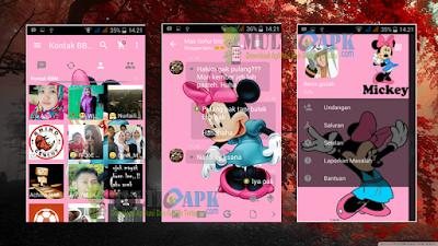 BBM Mod Minnie Mouse Theme v2.13.0.26 APK