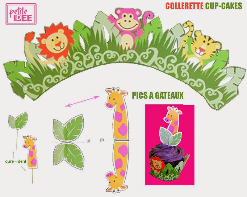 Pretty Jungle Free Printable Cupcake Wrapper And Topper