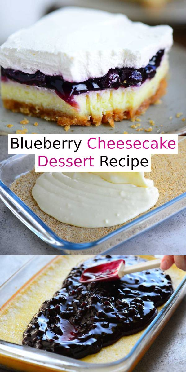 Blueberry Cheesecake Dessert Recipe #blueberry #cheesecake #cake #dessert #dessertrecipe