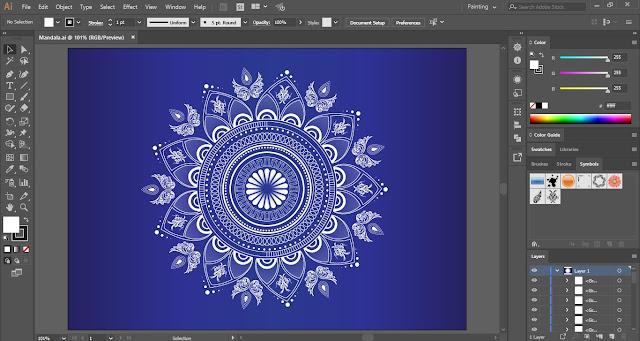 Mandala in Adobe Illustrator?