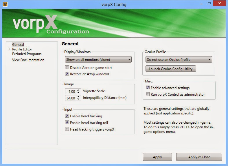 Download vorpx Beta 1 Free