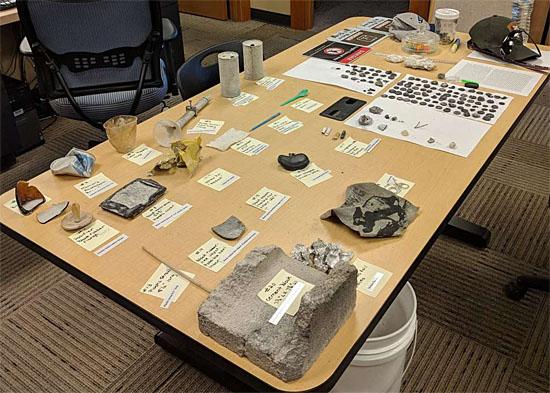Erupção de gêiser em Yellowstone arremessa materiais bizarros - Objetos encontrados 1