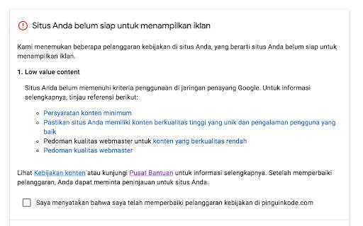 Rahasia Diterima Google Adsense Walaupun Trafik dan Artikel Sedikit