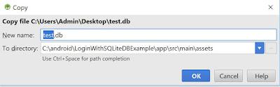 copy db to assets folder