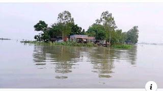 সিরাজগঞ্জ কাজীপুরে পানিবন্দী  লক্ষাধিক মানুষ,ফসলের ব্যাপক ক্ষতি