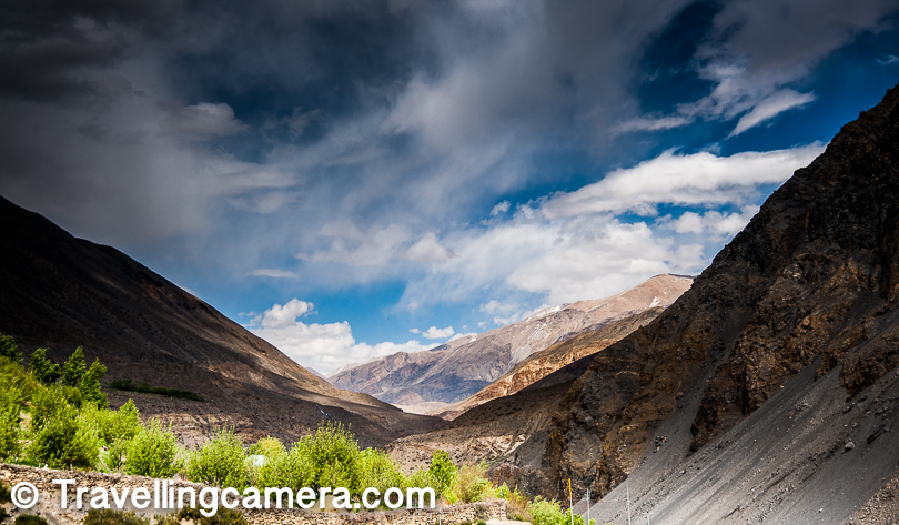 We had already been awed by the barren mountain slopes of Spiti  and the grandness of these landscapes. As we spent more time in Spiti we realized that this land has lot of secrets to explore and a week is not enough for that. Be it the culture of the place, buddhist influence, dramatic sunsets, cloud play in bright blue sky - everything brings lot of energy. And on top of all that exploring the mummy of Sangha Tenzin was a very special experience.