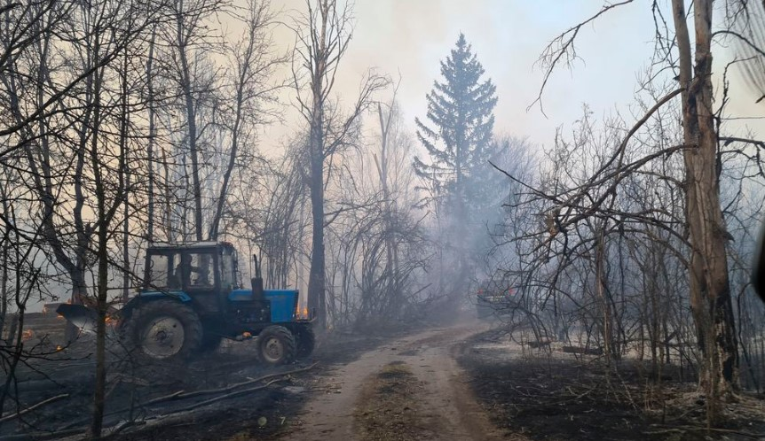 Wildfires Chernobyl's nuclear power plant