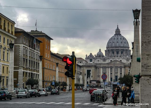 Via della Conciliazione, acesso ao Vaticano, Roma