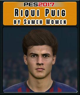 PES 2017 Faces Riqui Puig by Sameh Momen