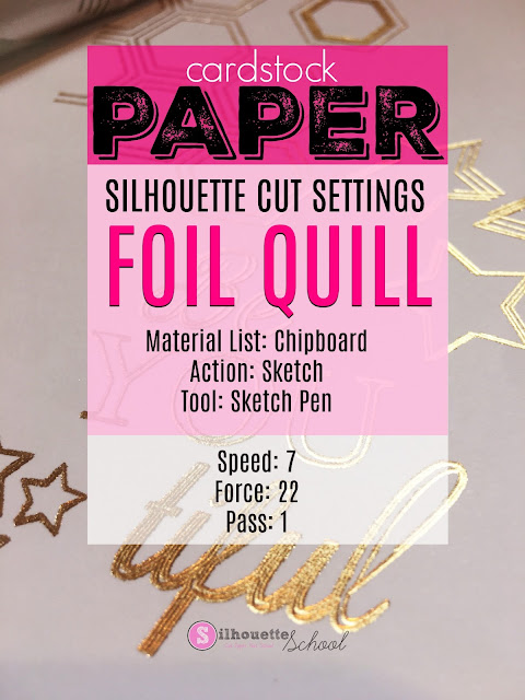 foil quil, foil quill silhouette, sticker paper, silhouette sticker paper, foil quill designs