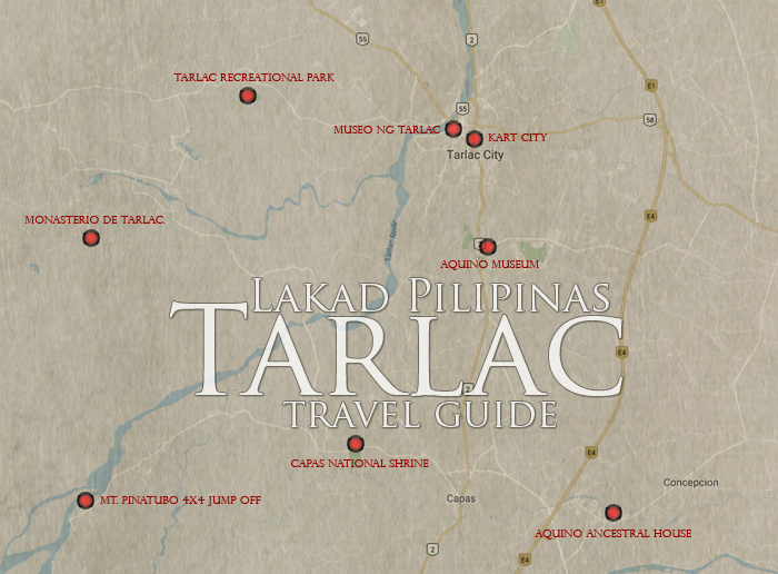 Tarlac Tourist Spots Map