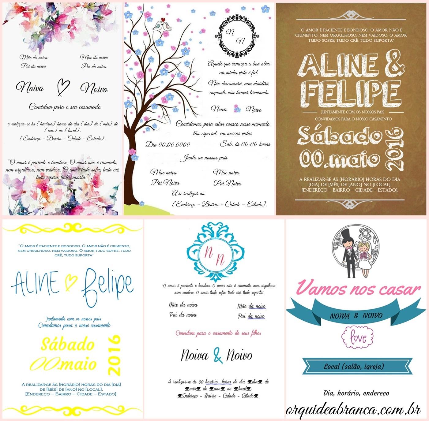 Diy Convites De Casamento Editáveis Universo Casamento