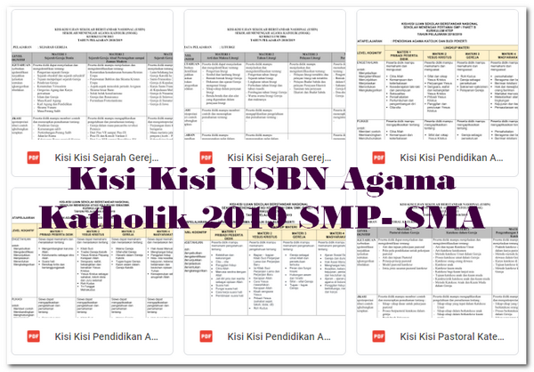 Kisi Kisi USBN Agama Katholik 2019 SMP- SMA
