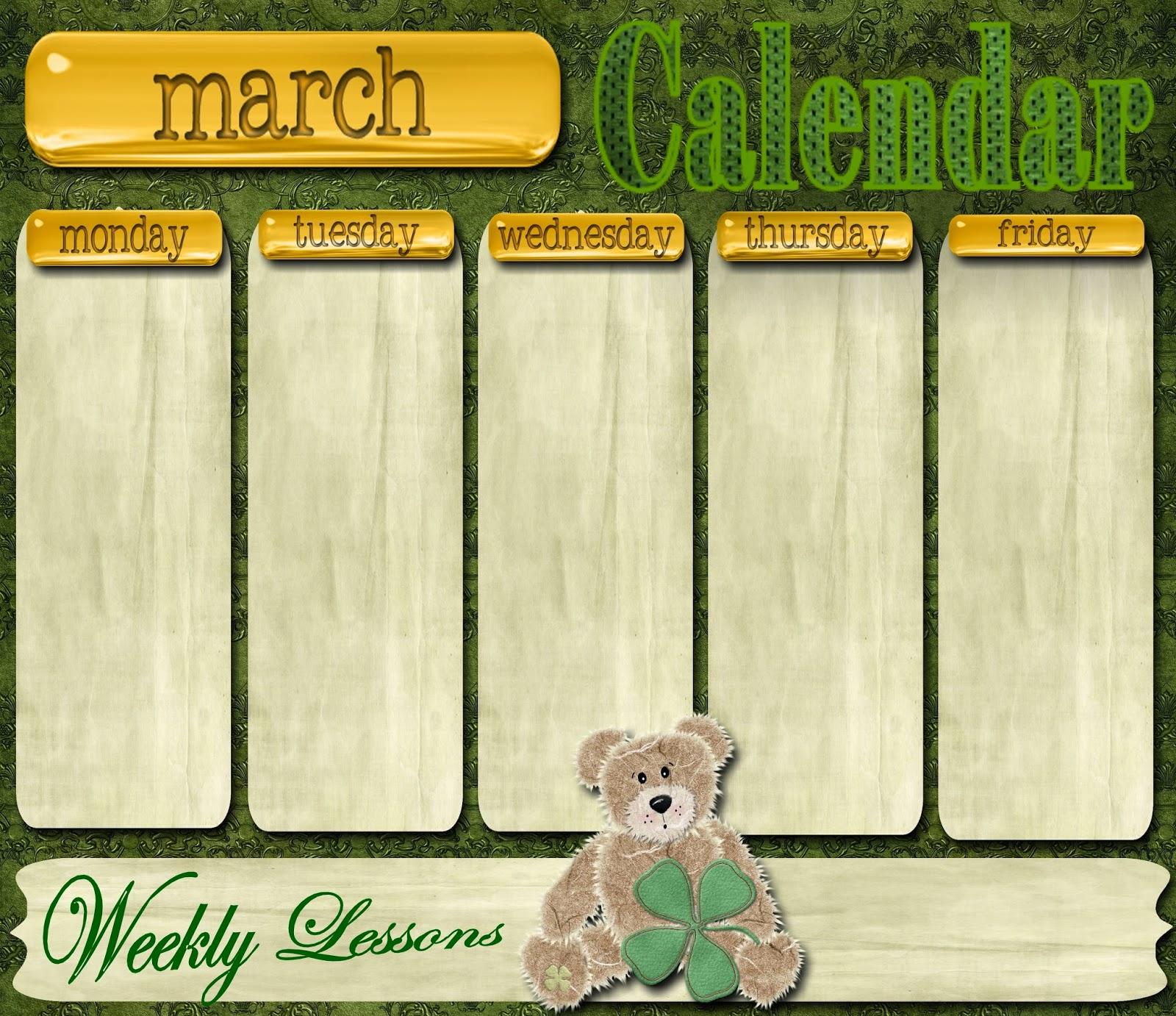 Reading Sage: Weekly Calendar Templates 2014 | Weekly School