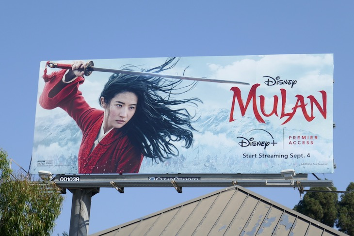 Disney Premier Access Mulan movie billboard