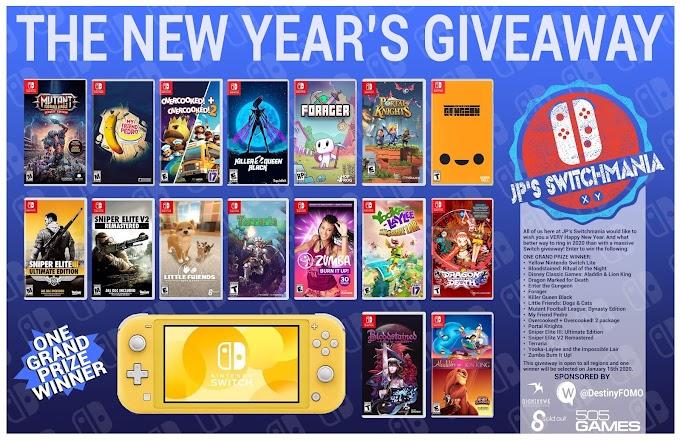Sorteio de Um  Nintendo Switch Lite e 16 jogos!