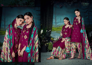 Belliza Designer Patiyala Magic Pashmina Collection  at Diwan Fashion